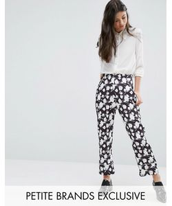 Alter Petite | Pyjama Style Trouser In Floral Print Mono