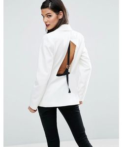ASOS | Open Back Blazer With Tape