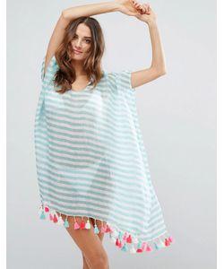 Seafolly | Linen Block Stripe Caftan