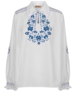 Muzungu Sisters | White Embroidered Dora Blouse