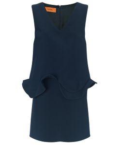 Coperni Femme | Marine Crepe Frill Mini Dress