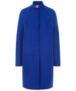 Harris Wharf | Cobalt Single Breasted Cocoon Coat