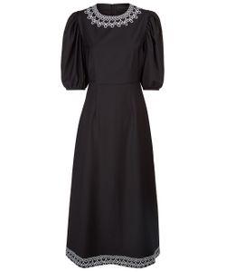 Paskal | Puffball Sleeve Lace Trim Dress