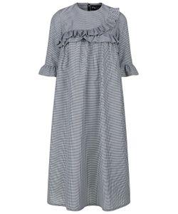 Paskal | Black Gingham Frill Dress