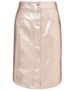 Alexander Lewis | Foil Leather Magnesia Skirt