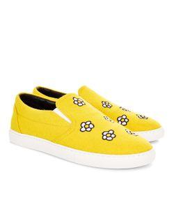 Mira Mikati | Felt Daisy Slip-On Sneakers