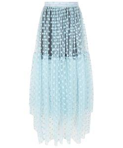 Paskal | Flocked Polka Dot Midi Skirt