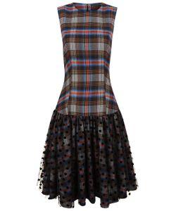 Paskal | Tartan Polka Dot Tulle Drop Waist Dress