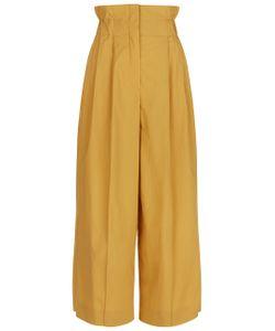 Sonia Rykiel | Mustard Cotton High Waisted Trousers