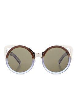 Linda Farrow | Two-Tone Cat Eye Sunglasses