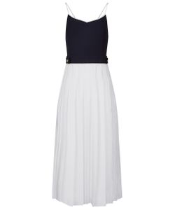 Victoria, Victoria Beckham | Combo Pleated Cami Midi Dress