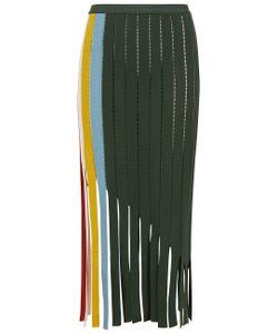 Marco de Vincenzo | Stripe Tape Fringed Skirt