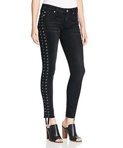 True Religion | Halle Crop Lace-Up Jeans In Pepper