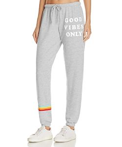 Spiritual Gangster | Good Vibes Printed Sweatpants