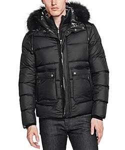 The Kooples | Soft Nylon And Leather Puffer Coat