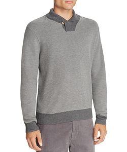 Brooks Brothers | Waffle Knit Shawl Collar Sweater