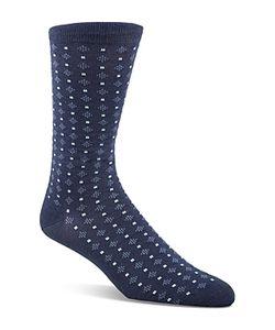 Cole Haan | Geo Dot Cotton Blend Socks