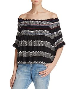 Piper | Ramones Embroide Off-The-Shoulder Top