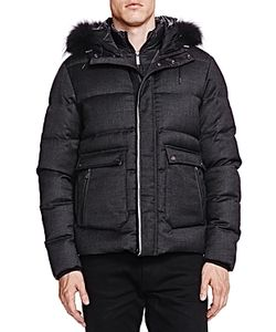 The Kooples | New Flannel And Leather Puffer Coat