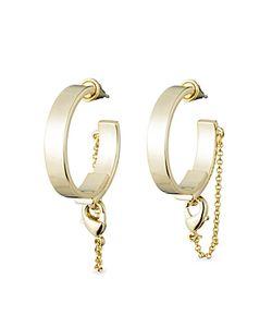 Eddie Borgo | Thin Safety Chain Hoop Earrings