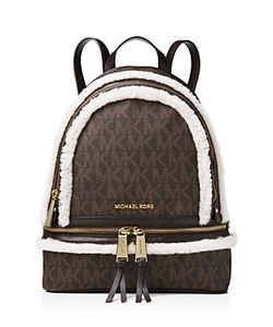 Michael Michael Kors | Rhea Medium Signature Logo Zip Backpack