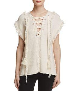 Pam & Gela | Fringe Baja Sweater