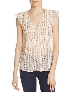 Joie   Macy E Sheer Silk Top