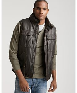 Levi's: Made & Crafted | Levis Faux Leather Puffer Vest With Sherpa Lining