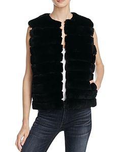 Meteo By Yves Salomon   Cropped Fur Vest