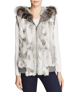 Jocelyn   Fox Rabbit Fur Vest