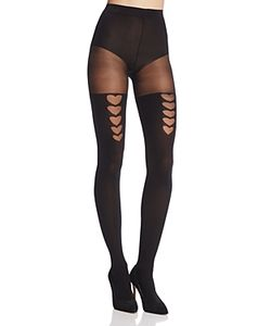 Pretty Polly | Heart Faux Stay-Up Tights