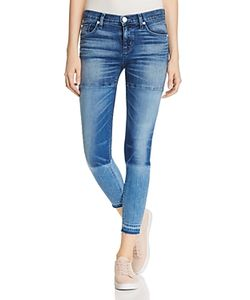 Hudson   Isla Panelled Mid Rise Skinny Jeans In