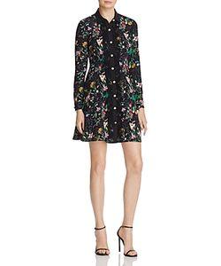 The Kooples | Lace-Trim Silk Dress 100 Exclusive