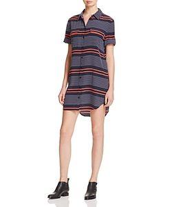Equipment | Short Sleeve Slim Signature Silk Shirt Dress