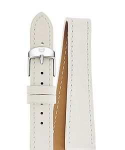 MICHELE | Double Wrap Leather Watch Strap 16mm