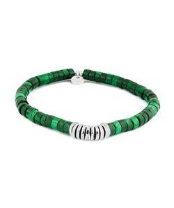Tateossian | Malachite Rhodium Disc Bead Bracelet