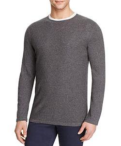Vince | Cotton Cashmere Mixed Stitch Crewneck Sweater