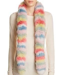 Jocelyn   Multi Stripe Fox Fur Scarf 100 Exclusive