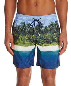 Sundek | Island Print Swim Trunks