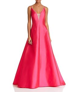 Aidan Aidan | Illusion Inset Strappy Gown 100 Exclusive