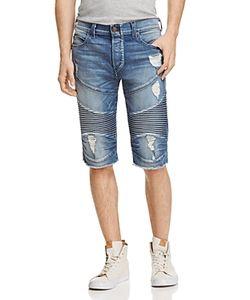 True Religion | Geno Moto Straight Fit Cutoff Shorts In