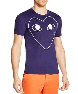 Comme Des Garçons Play | Comme Des Garcons Play Outline Heart Graphic Tee
