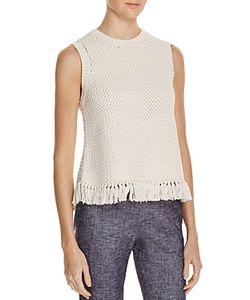 Theory | Meenara Fringe Hem Sleeveless Sweater