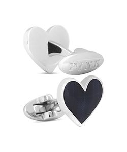 Thomas Pink | Herringbone Heart Cufflinks