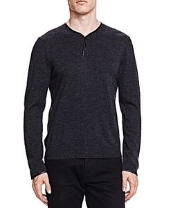 The Kooples | Merino And Leather Pullover Sweater