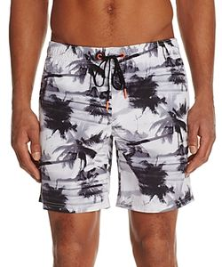 Sundek | Palm Tree Print Swim Trunks