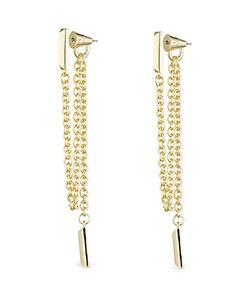 Eddie Borgo | Draped Chain Bar Drop Earrings