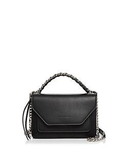 Elena Ghisellini | Eclipse Flap Leather Shoulder Bag