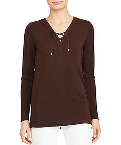 Ralph Lauren   Lauren Lace-Up Jersey Tunic