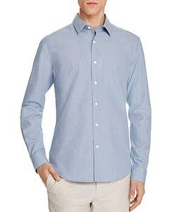 Theory | Sylvain Micro Check Slim Fit Button-Down Shirt
